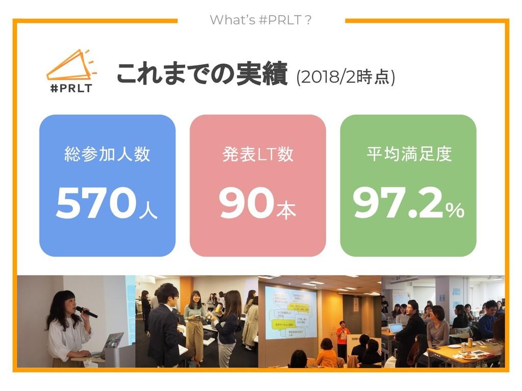 What's #PRLT ? これまでの実績 (2018/2時点) 総参加人数 570人 発表...