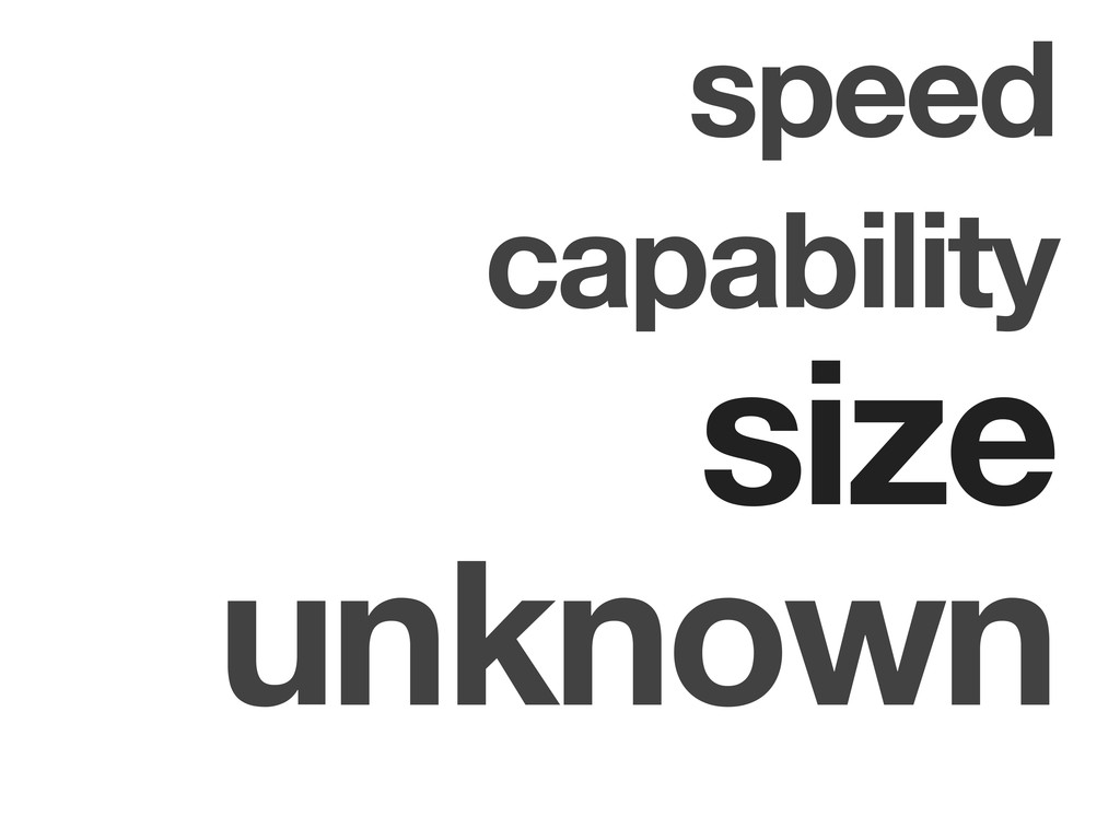speed capability size unknown