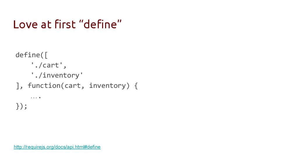 """Love at first """"define"""" define([ './cart', './in..."""