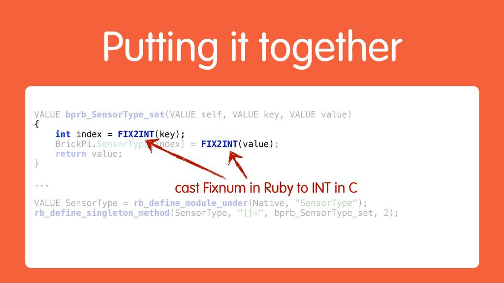 Putting it together VALUE bprb_SensorType_set(V...
