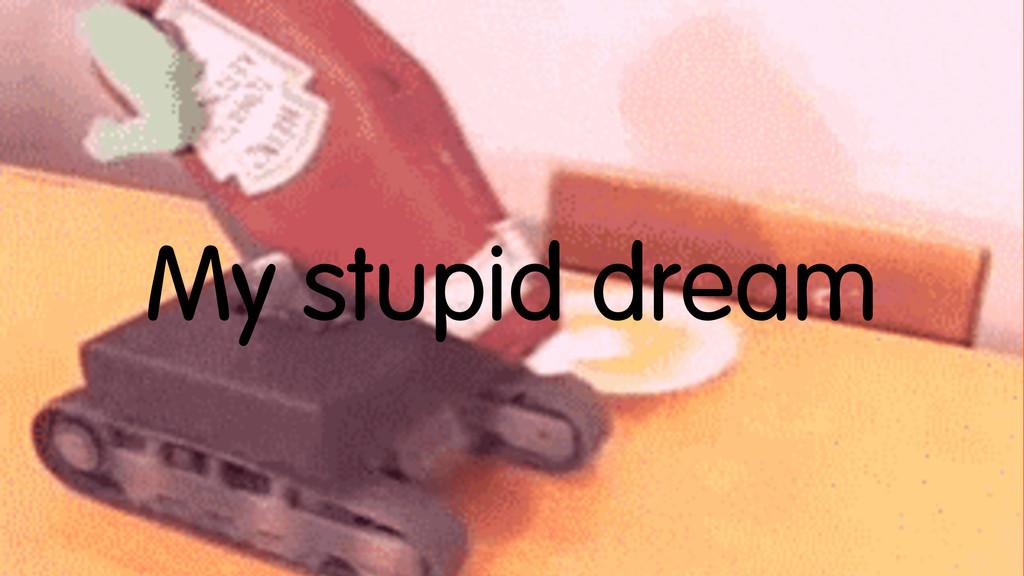 My stupid dream