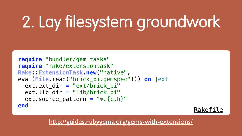 """2. Lay filesystem groundwork require """"bundler/g..."""