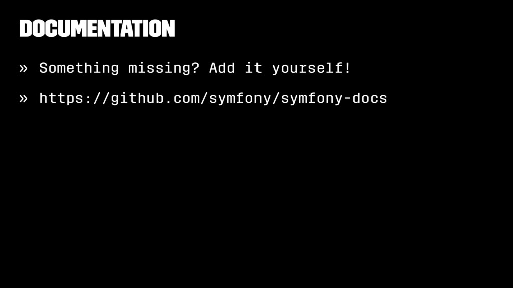 Documentation » Something missing? Add it yours...
