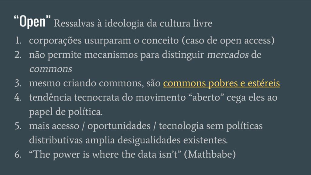 """""""Open"""" Ressalvas à ideologia da cultura livre 1..."""