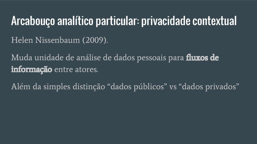 Arcabouço analítico particular: privacidade con...