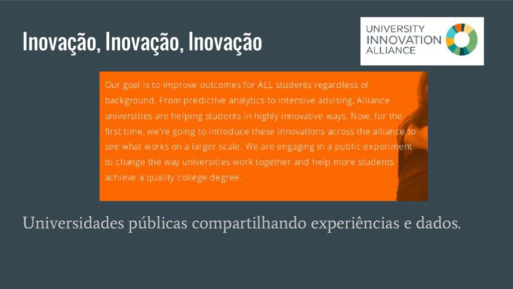 Inovação, Inovação, Inovação Universidades públ...
