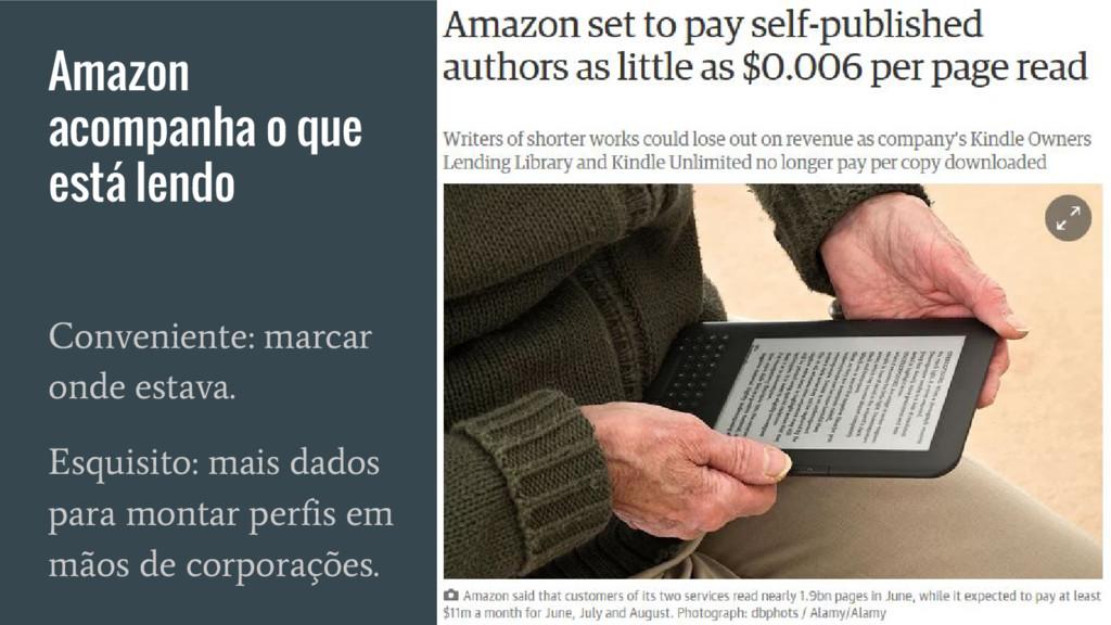 Amazon acompanha o que está lendo Conveniente: ...