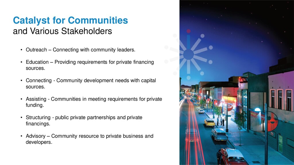 Catalyst for Communities and Various Stakeholde...