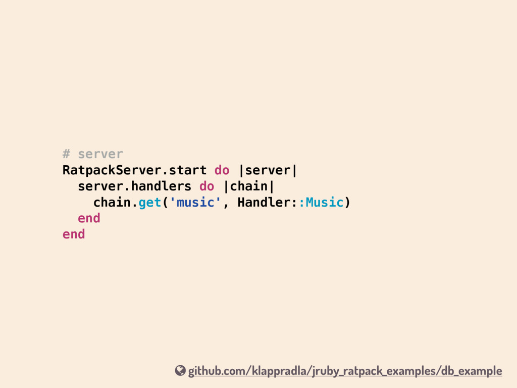# server RatpackServer.start do |server| server...
