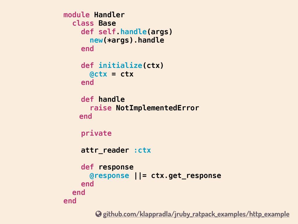 module Handler class Base def self.handle(args)...