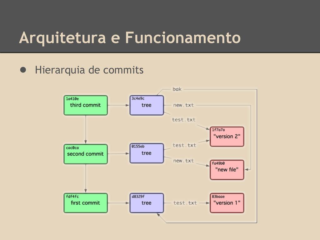 Arquitetura e Funcionamento ● Hierarquia de com...