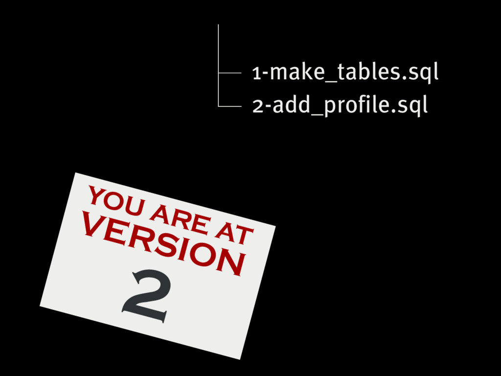 YOU ARE AT VERSION 2 1-make_tables.sql 2-add_pr...