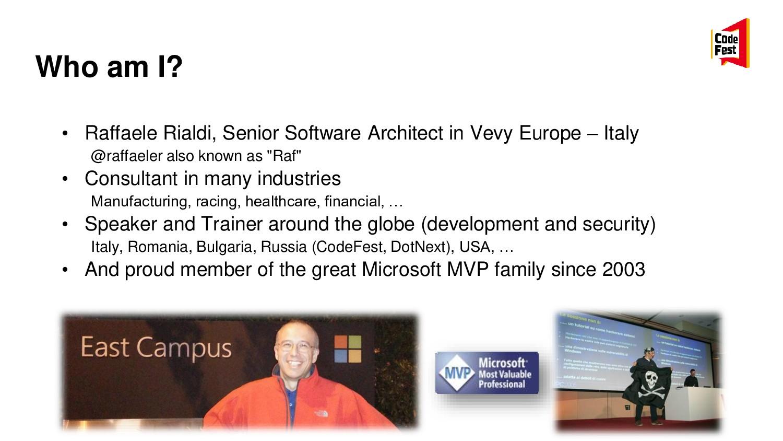 Who am I? • Raffaele Rialdi, Senior Software Ar...