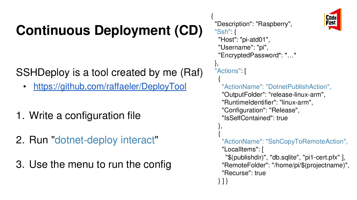 Continuous Deployment (CD) SSHDeploy is a tool ...