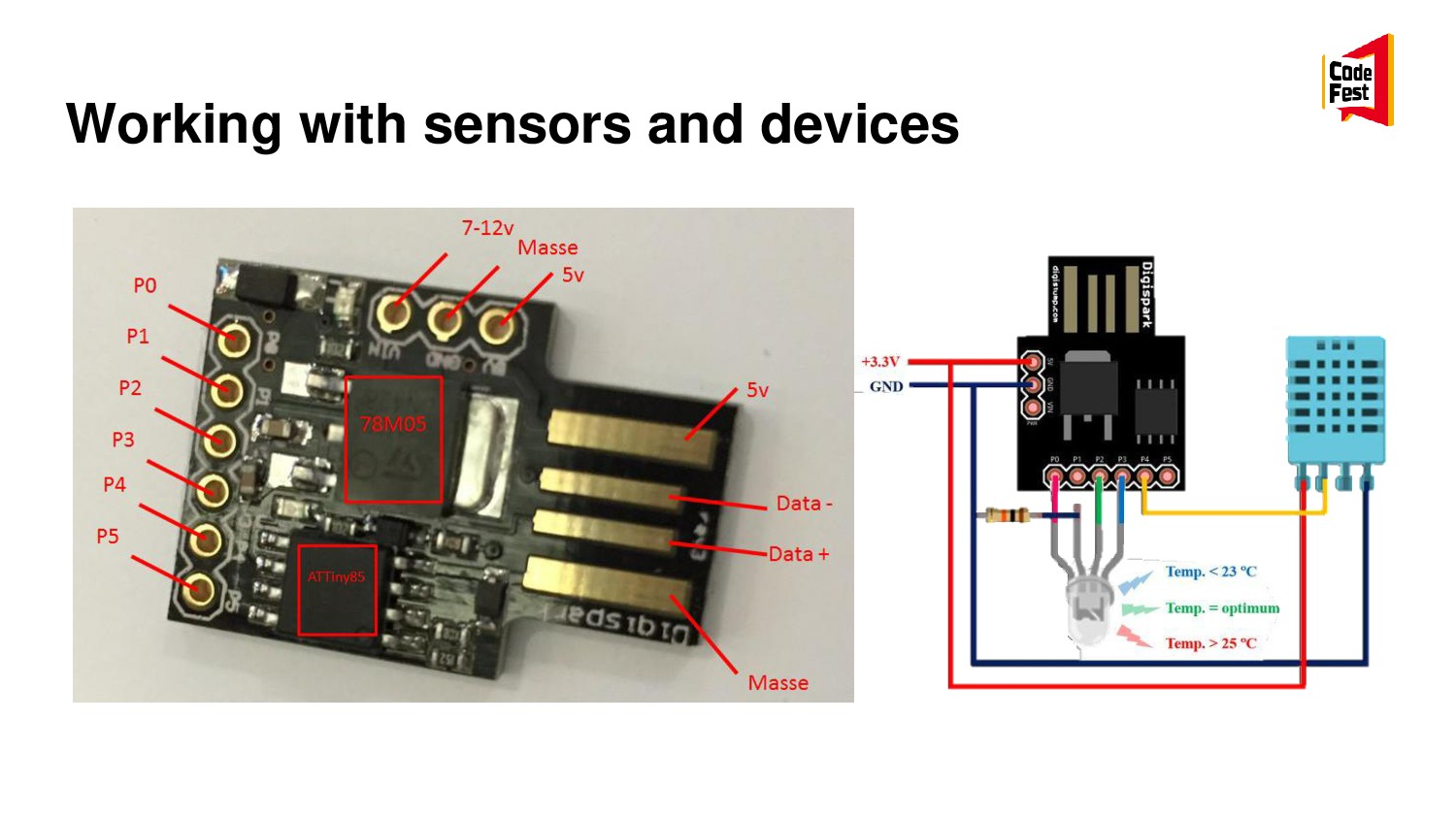 Working with sensors and devices