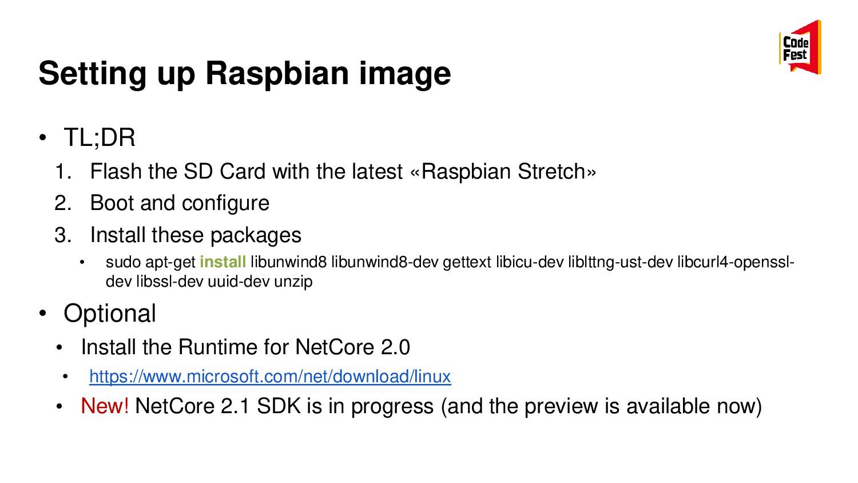 Setting up Raspbian image • TL;DR 1. Flash the ...