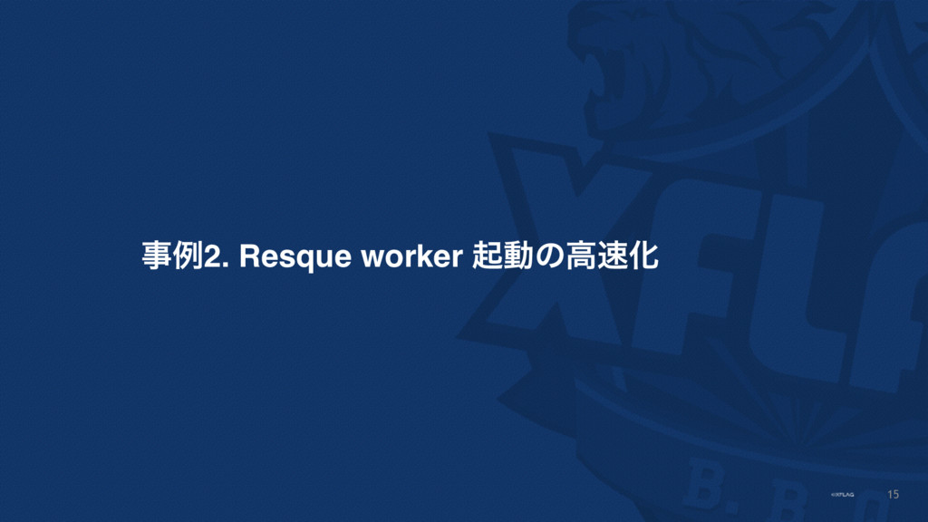 15 ࣄྫ2. Resque worker ىಈͷߴ଎Խ