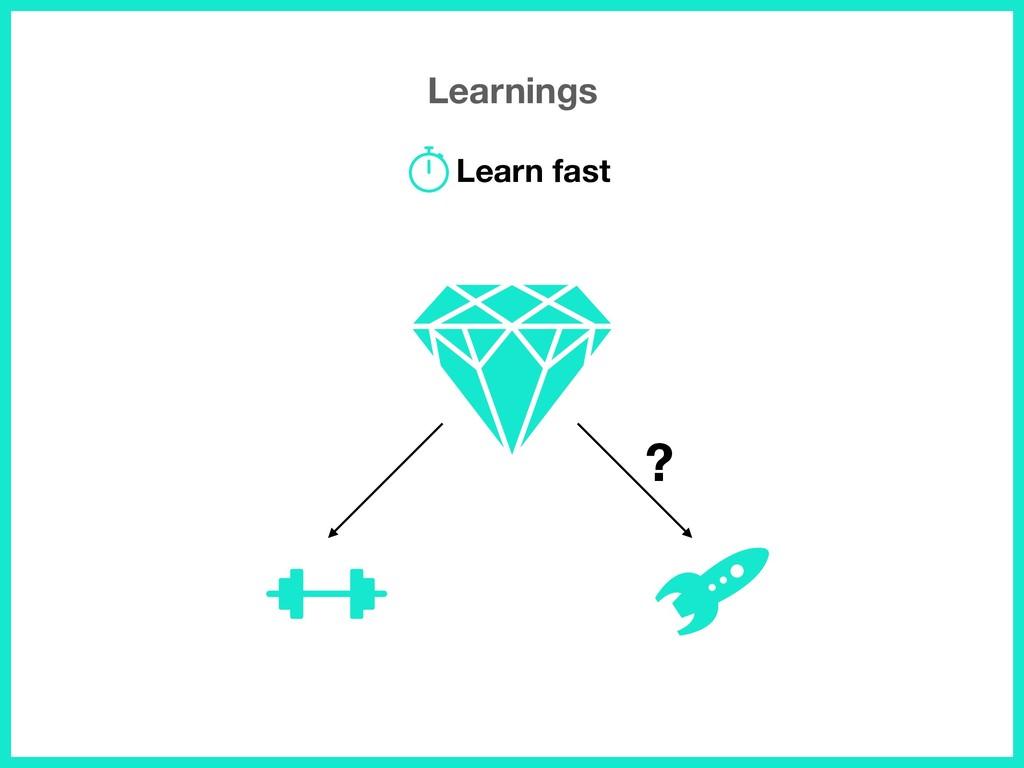 Learnings Learn fast ?