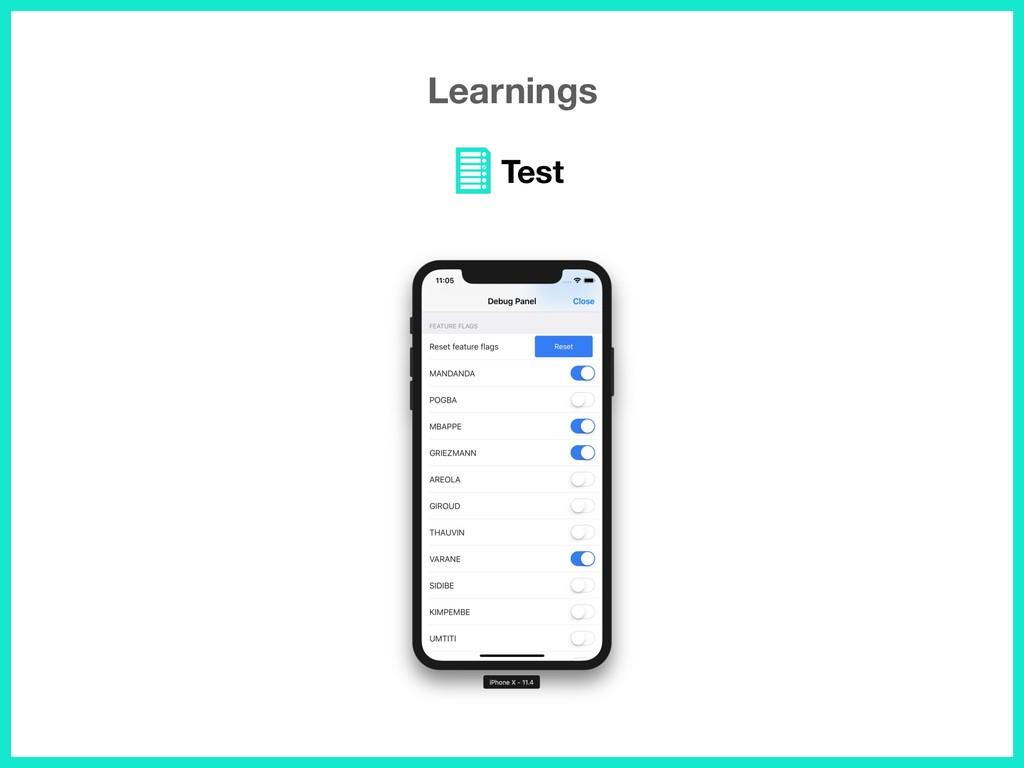 Learnings Test