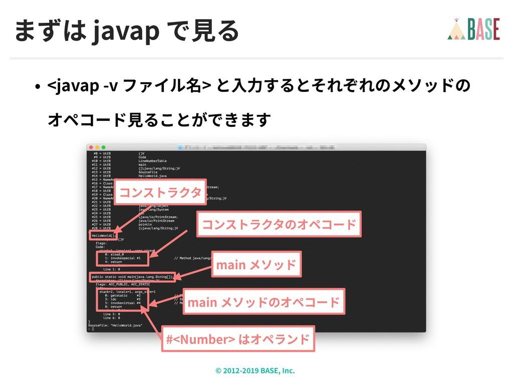 © - BASE, Inc. javap <javap -v >  main main #<...