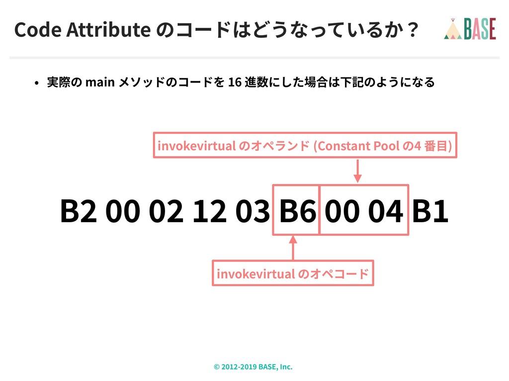© - BASE, Inc. Code Attribute main 16 B B B inv...
