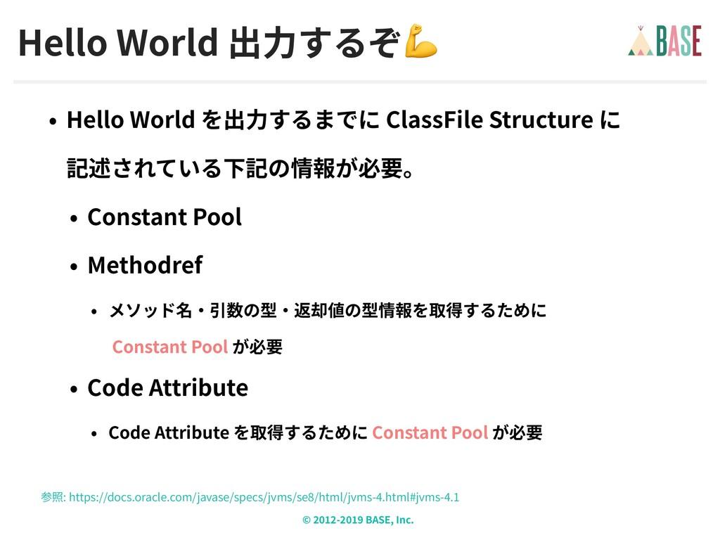 © - BASE, Inc. Hello World  Hello World ClassFi...