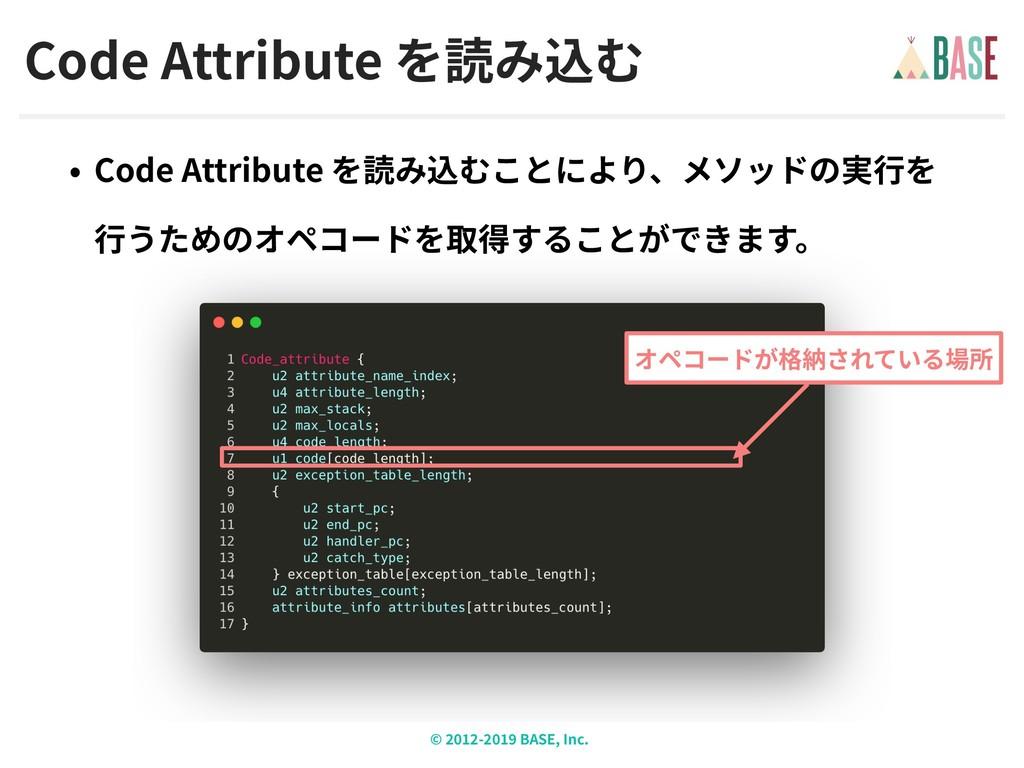 © - BASE, Inc. Code Attribute Code Attribute