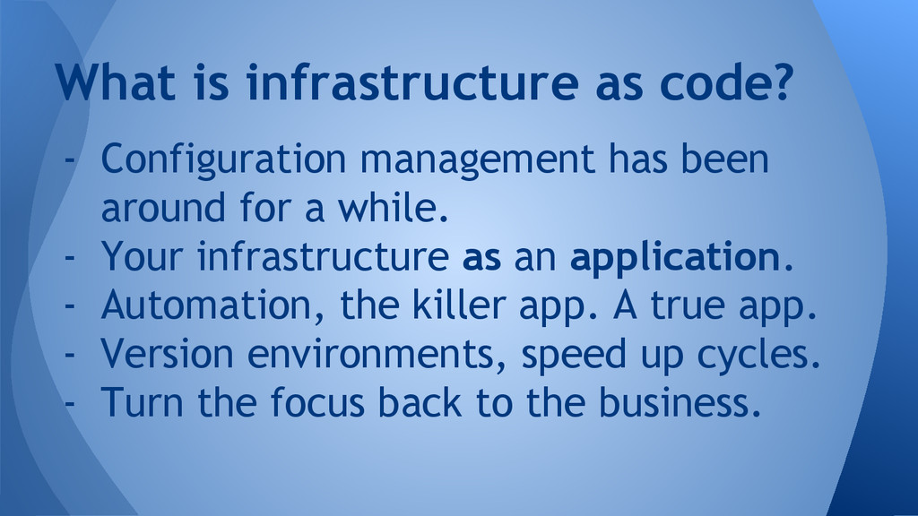 - Configuration management has been around for ...