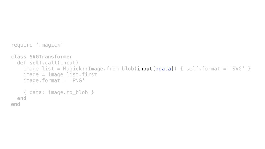 require 'rmagick' class SVGTransformer def self...