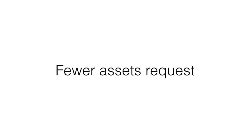 Fewer assets request