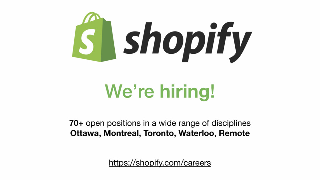 We're hiring! 70+ open positions in a wide rang...