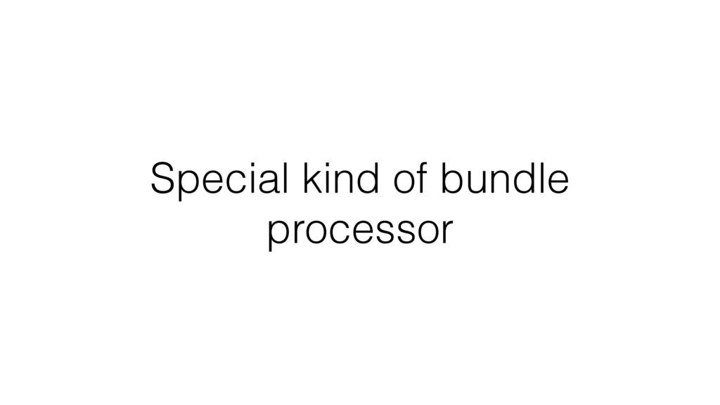 Special kind of bundle processor