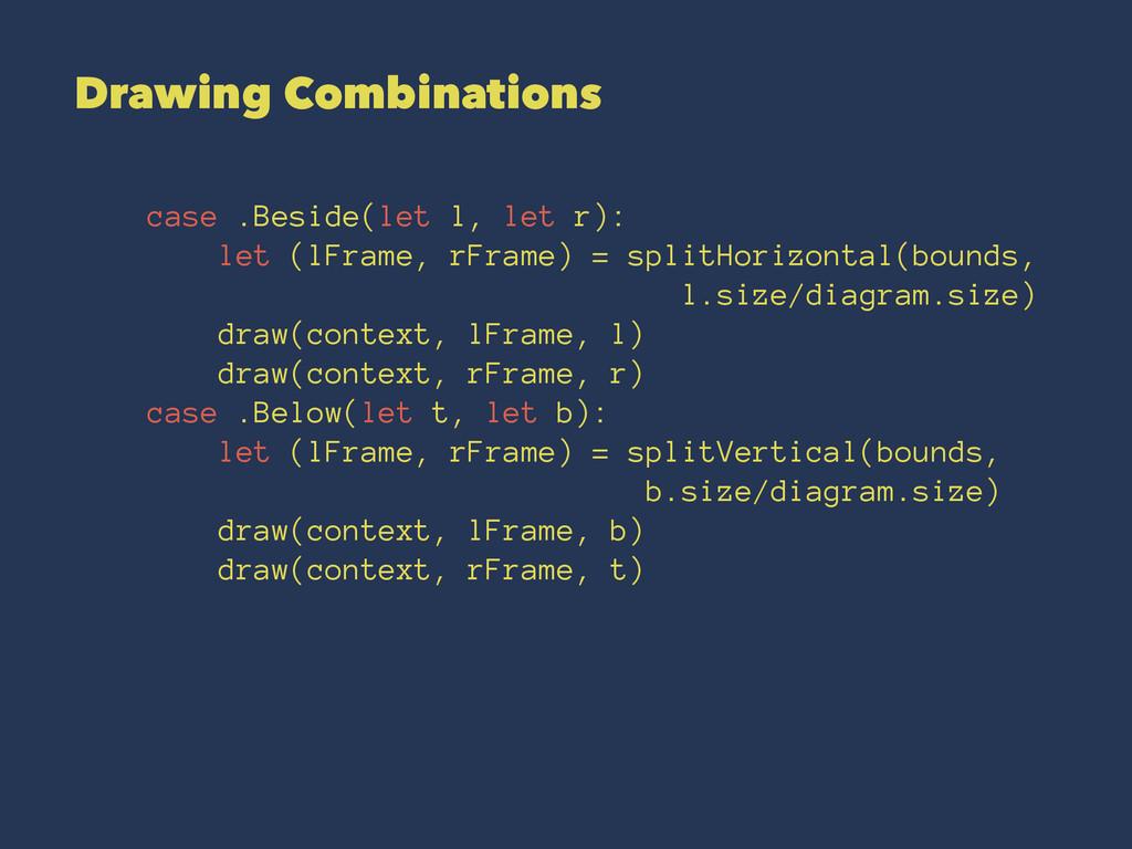 Drawing Combinations case .Beside(let l, let r)...