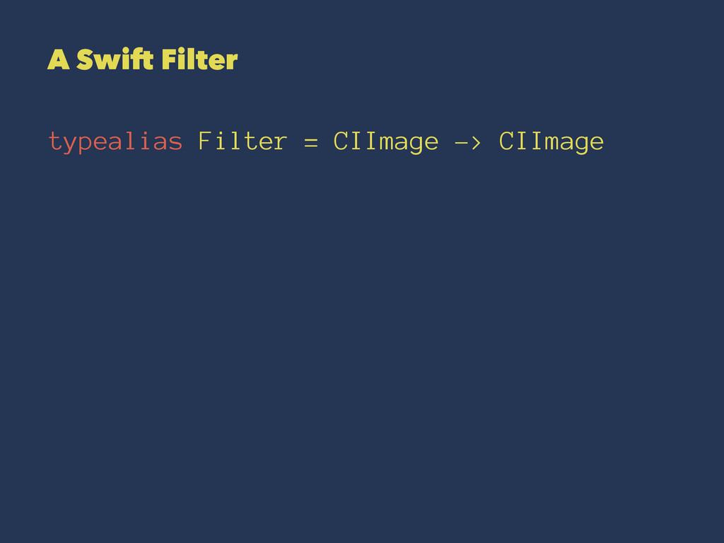 A Swift Filter typealias Filter = CIImage -> CI...