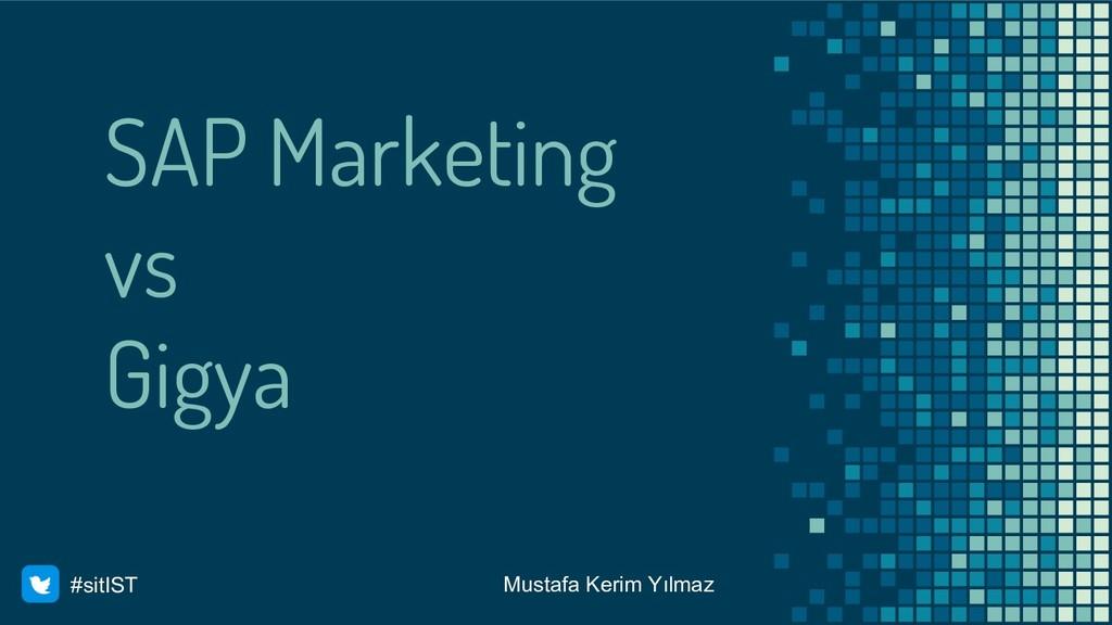 SAP Marketing vs Gigya Mustafa Kerim Yılmaz #si...