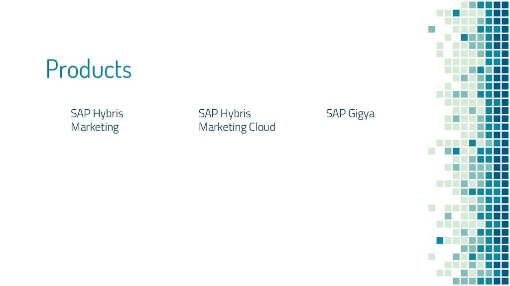 Products SAP Hybris Marketing SAP Hybris Market...