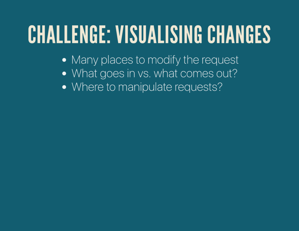 CHALLENGE: VISUALISING CHANGES