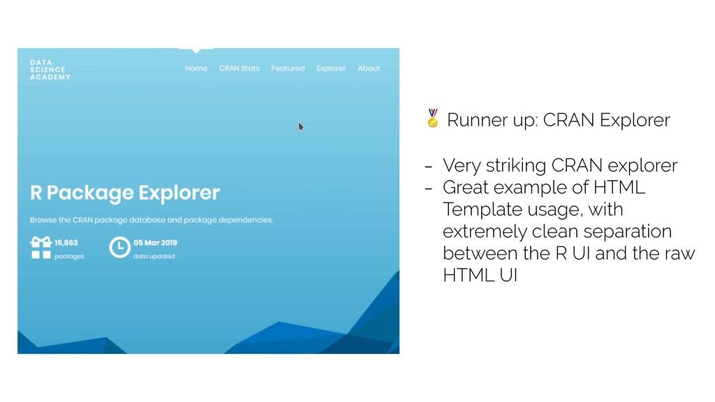 Runner up: CRAN Explorer - Very striking CRAN ...
