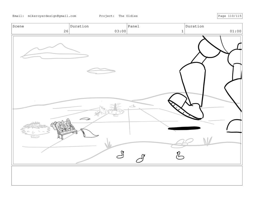 Scene 26 Duration 03:00 Panel 1 Duration 01:00 ...