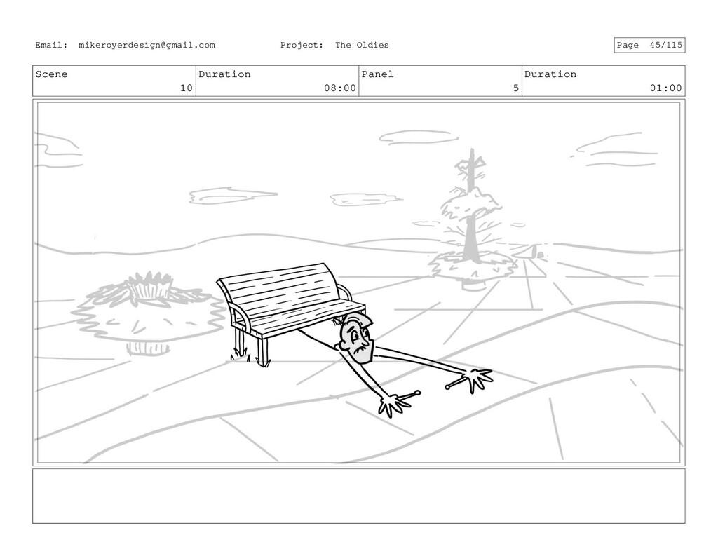 Scene 10 Duration 08:00 Panel 5 Duration 01:00 ...
