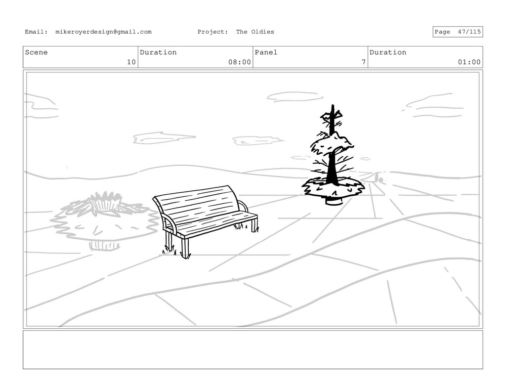 Scene 10 Duration 08:00 Panel 7 Duration 01:00 ...