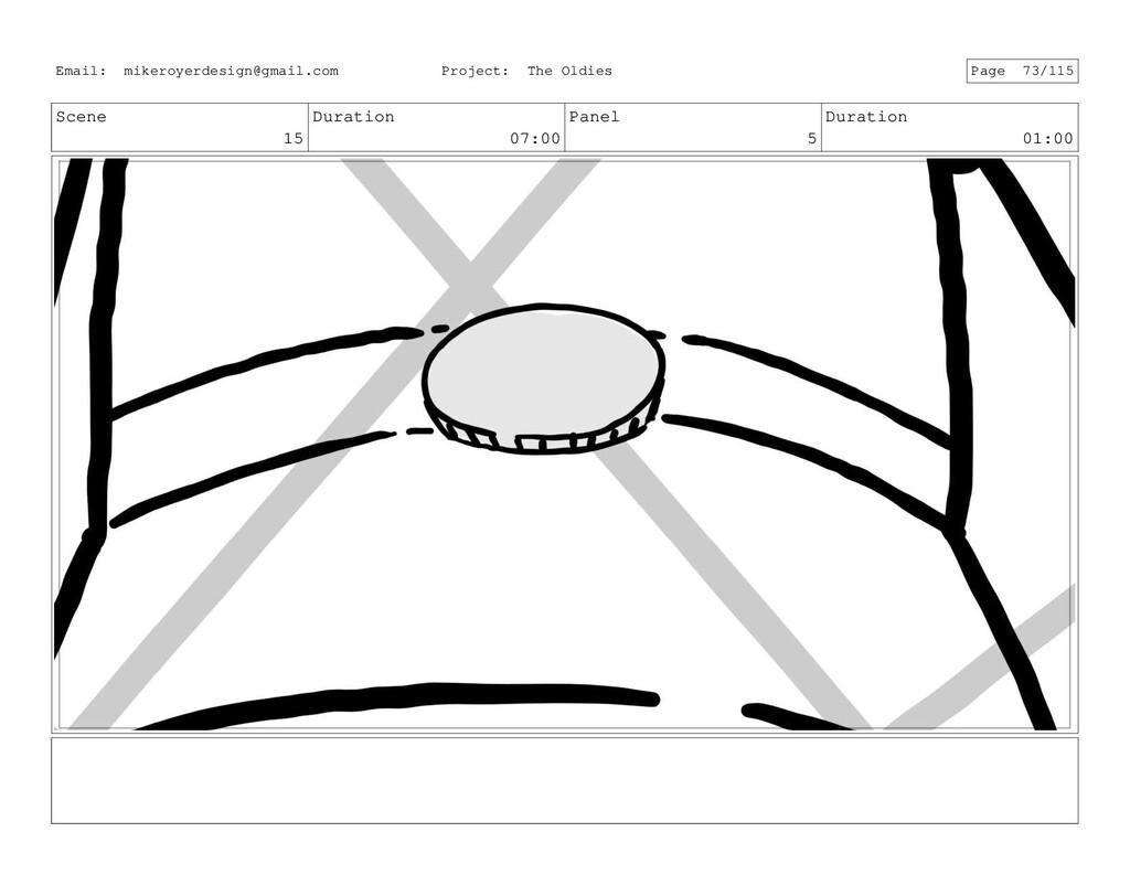Scene 15 Duration 07:00 Panel 5 Duration 01:00 ...