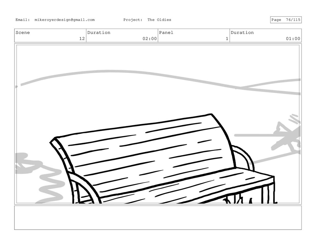 Scene 12 Duration 02:00 Panel 1 Duration 01:00 ...
