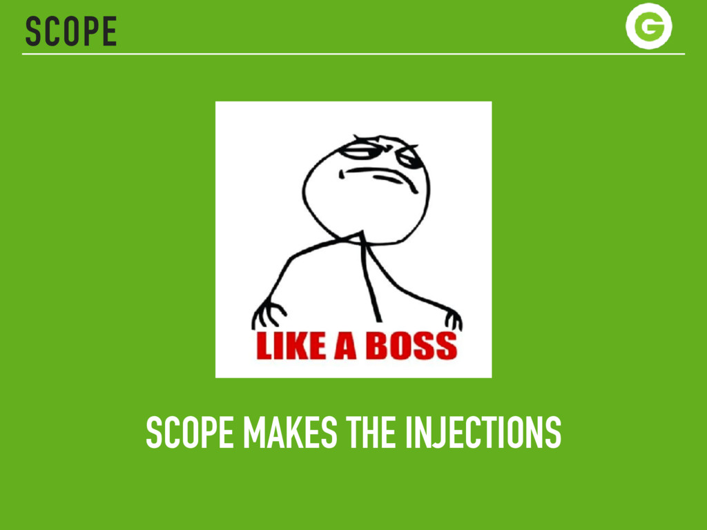 SCOPE MAKES THE INJECTIONS SCOPE