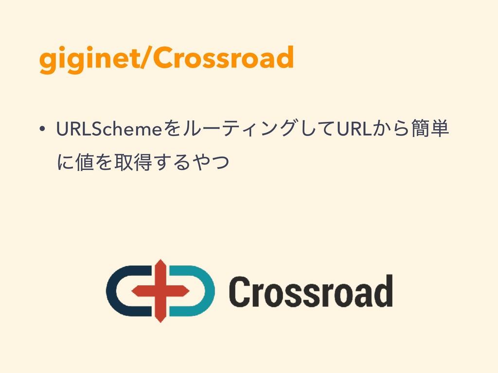 giginet/Crossroad • URLSchemeΛϧʔςΟϯάͯ͠URL͔Β؆୯ ʹ...