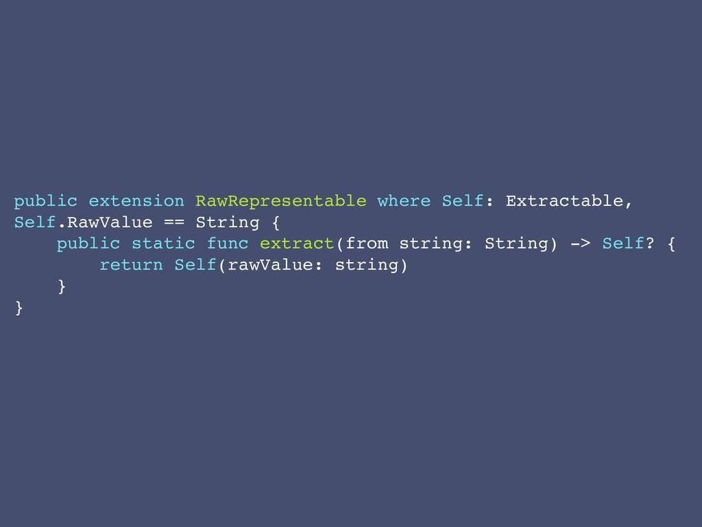 public extension RawRepresentable where Self: E...