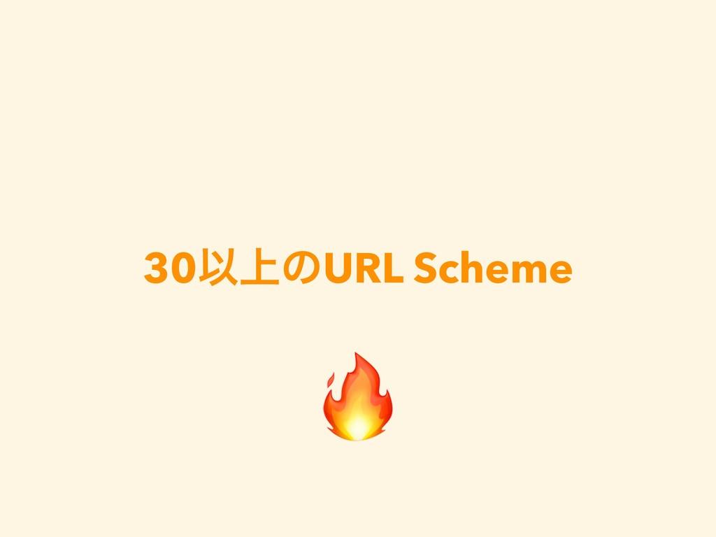 30Ҏ্ͷURL Scheme