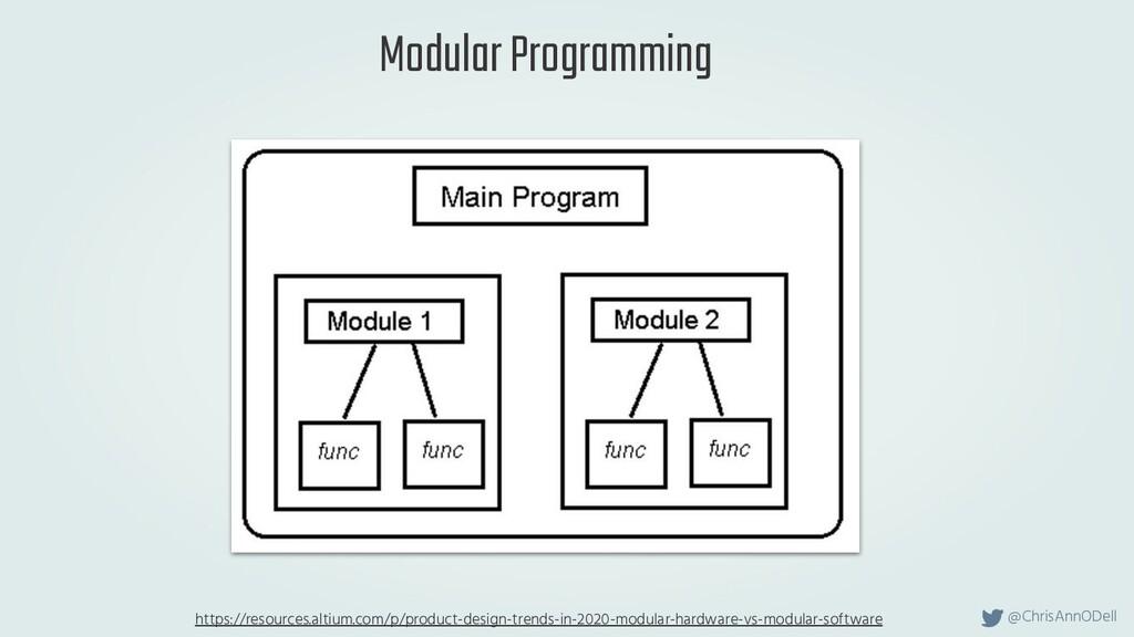 @ChrisAnnODell Modular Programming https://reso...