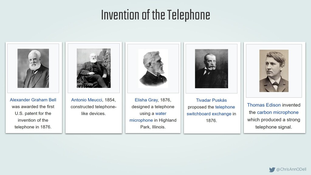 @ChrisAnnODell Invention of the Telephone