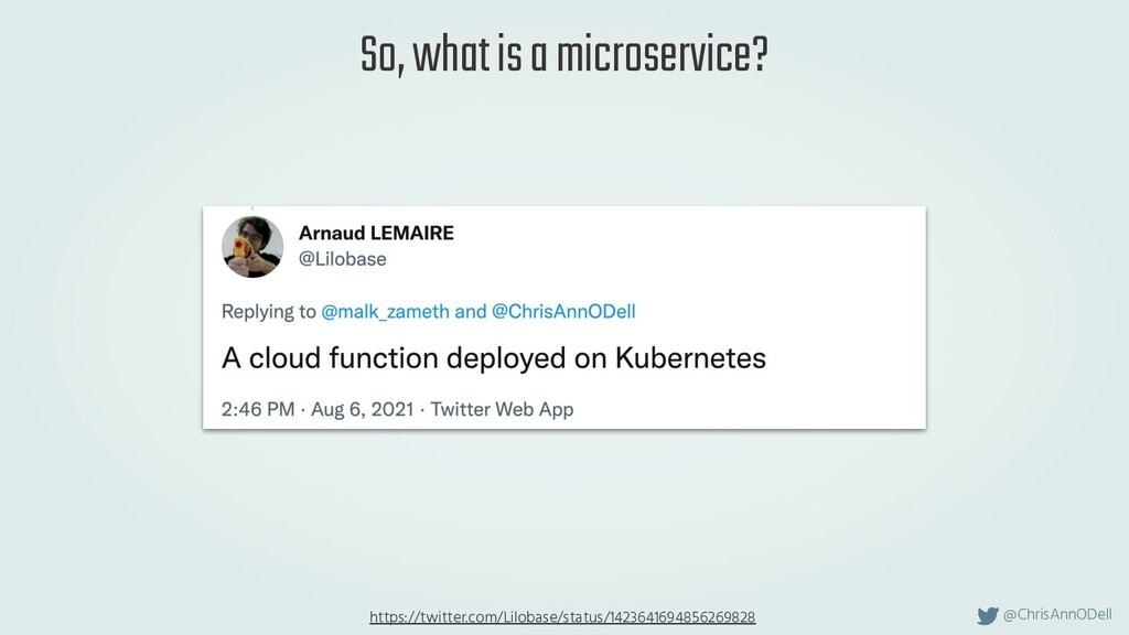 @ChrisAnnODell So, what is a microservice? http...